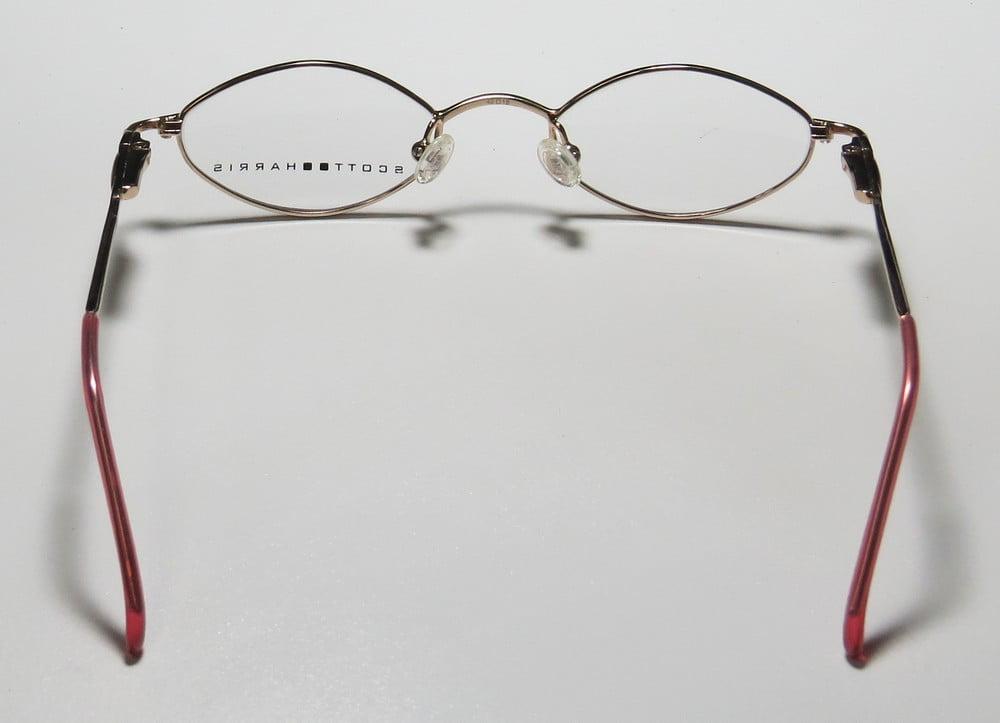 78e9affd5fd New Scott Harris 758 Childrens Kids Girls Designer Full-Rim Rose   Gold  Affordable Children Girls Frame Demo Lenses 42-18-120 Spring Hinges  Eyeglasses Eye ...