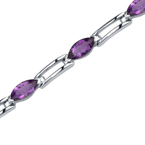 Oravo Fabulous Trend Marquise Shaped Gemstone Bracelet in Sterling Silver