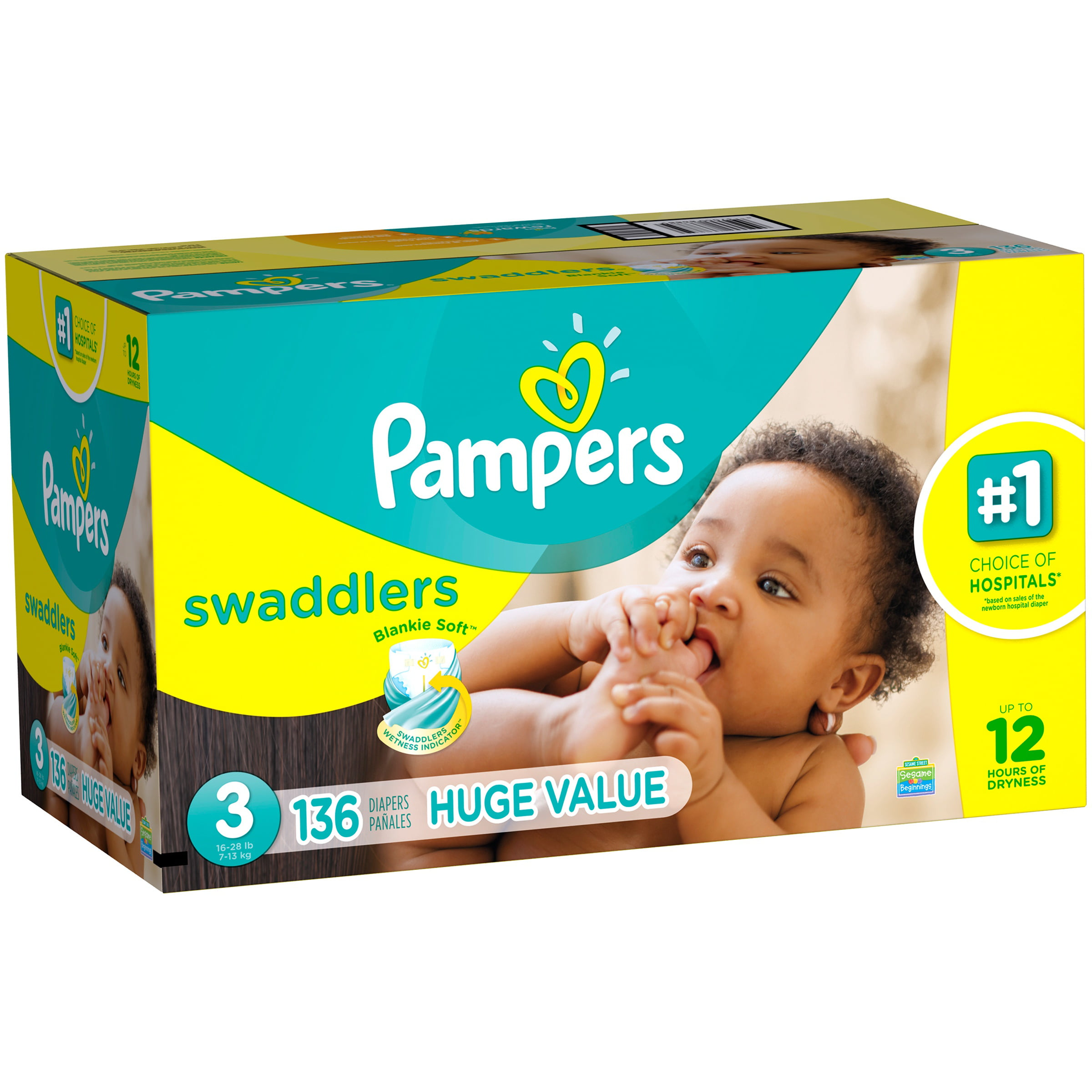 Pampers Swaddlers Diapers (Choose Size and Count) by Pampers