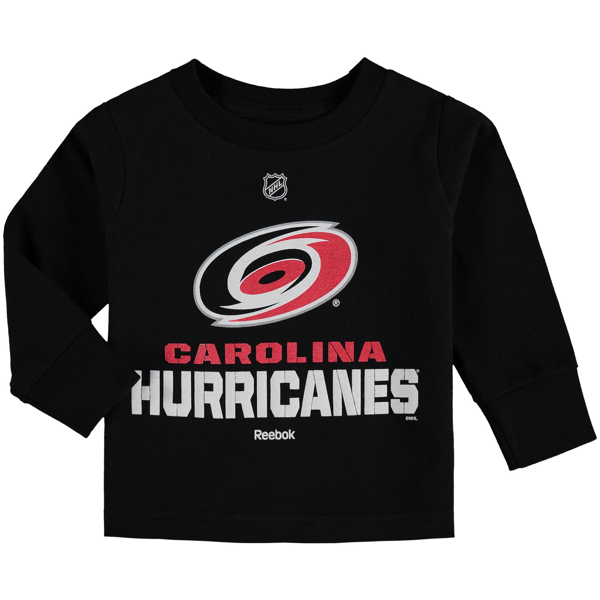 Carolina Hurricanes Reebok Toddler Clean Cut Long Sleeve T-Shirt - Black