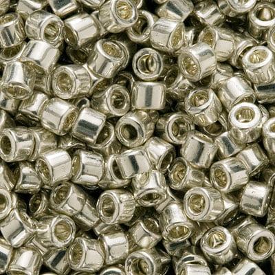 Miyuki Delica Seed Beads 11/0 Galvanized Silver Metallic DB035 7.2 Grams