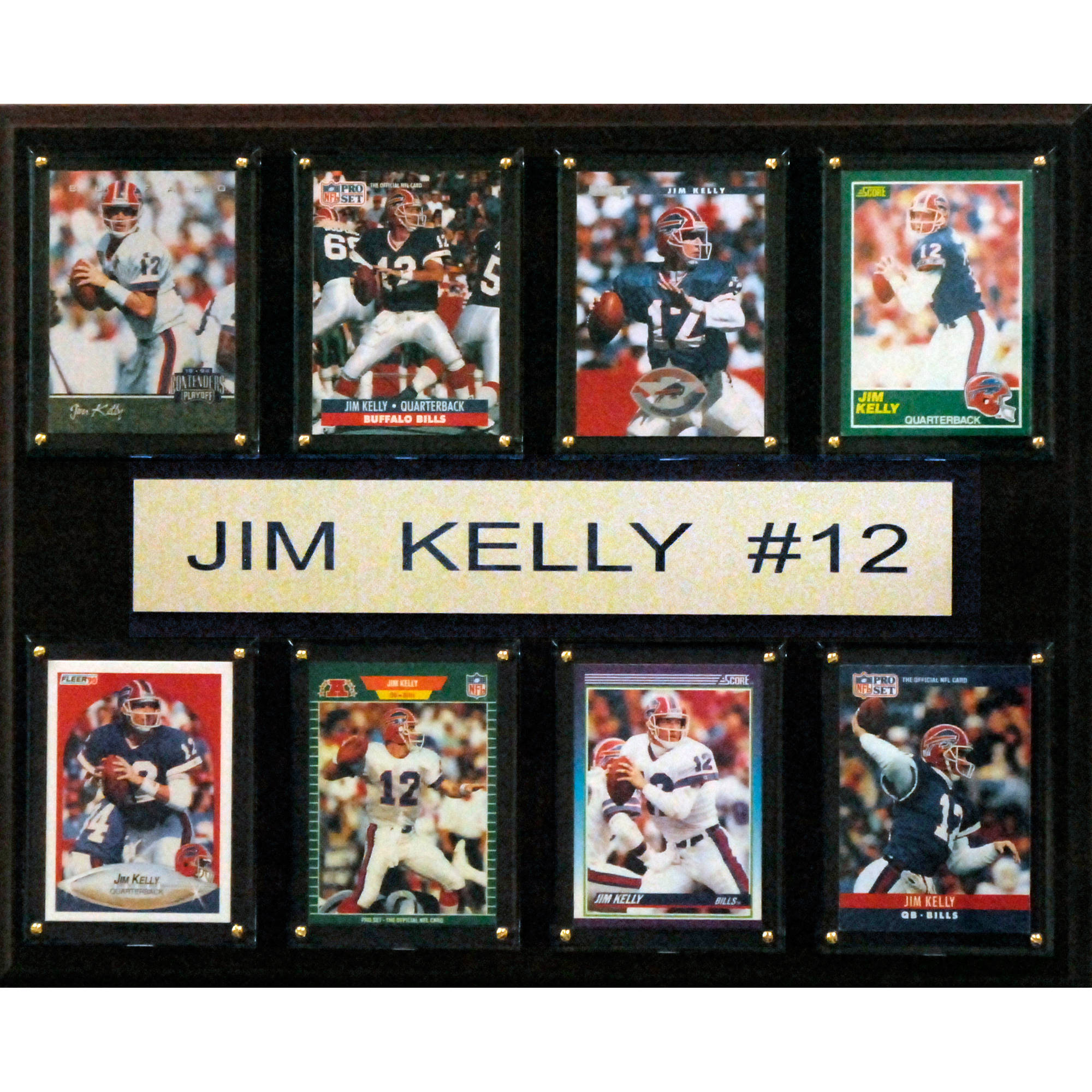 C&I Collectables NFL 12x15 Jim Kelly Buffalo Bills 8-Card Plaque