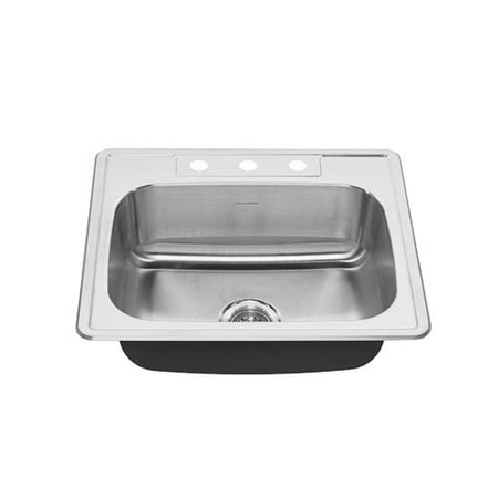 American Standard Colony 25'' x 22'' Single Bowl Drop-In Kitchen Sink