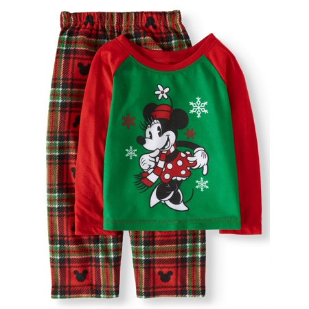 Minnie Mouse Holiday Family Sleep Pajamas, 2-piece Set (Toddler Girls)