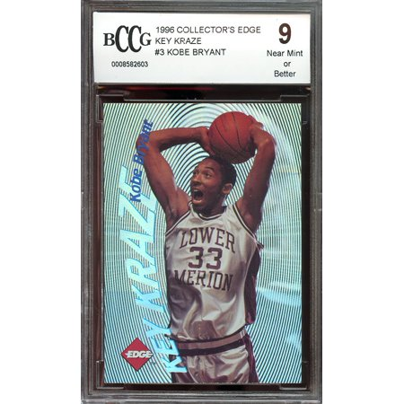 1996 Collectors Edge Key Kraze  3 Kobe Bryant Lakers Rookie Card Bgs Bccg 9