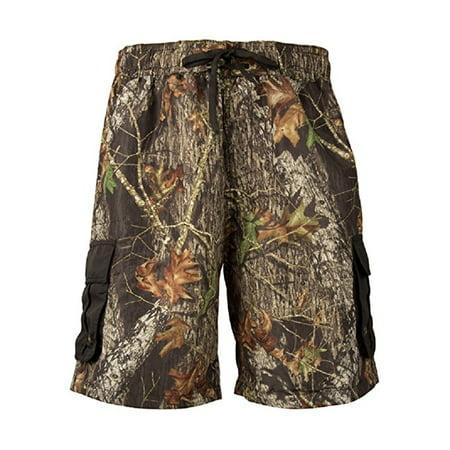 Mossy Oak Camouflage Shorts - Men's Mossy Oak Break Up Cargo Board Shorts Camouflage Swim Trunks