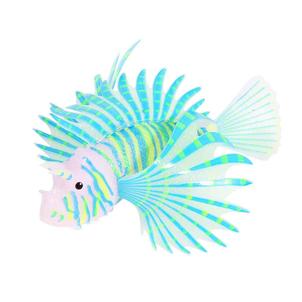 VBESTLIFE Aquarium Artificial Fish Tank Landscape Decoration Glow Simulation Animal Ornaments Tank Simulation Animal Fake Fish