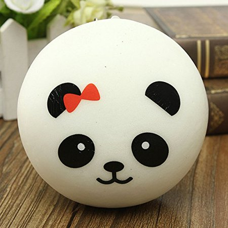 New Kawaii Jumbo Panda Squishy Buns Cell Phone Bag Strap Pendant (Marshmallow Squishy Bun)