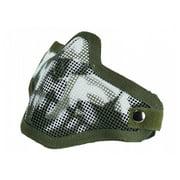 Bravo Strike Steel Half-Face Mesh Mask ( Skull / OD Green ) in Olive Drab