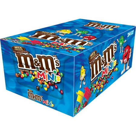 M&M's, Milk Chocolate Minis Size Candy Tube, 1.77 Ounce, 24 Count (Mini M&m Tubes)