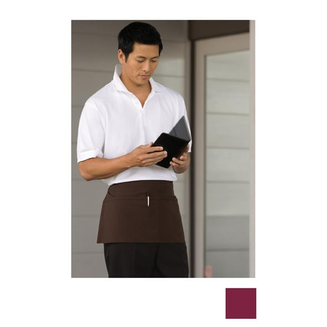 Uncommon Threads 3065-0300 Waist Apron 2 Section Pocket in Burgundy