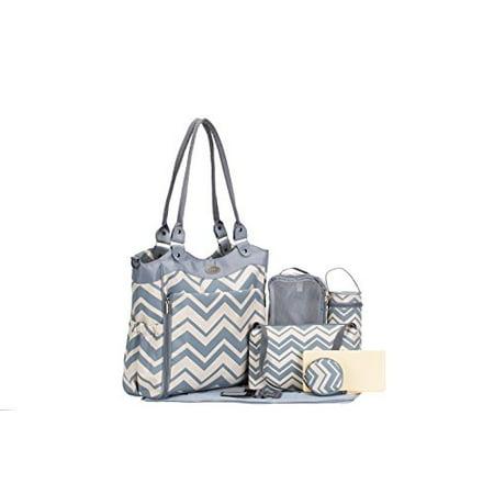 Collection Baby Diaper Stacker - SoHo Collection, Louvre 9 pieces Diaper Tote Bag set (Chevron)