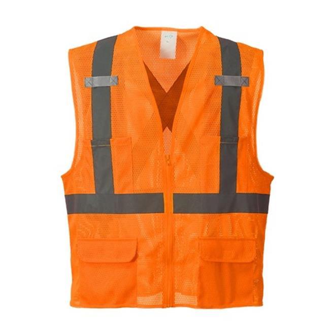 US370 Extra Large Atlanta Hi-Visibility Mesh Vest, Orange - Regular