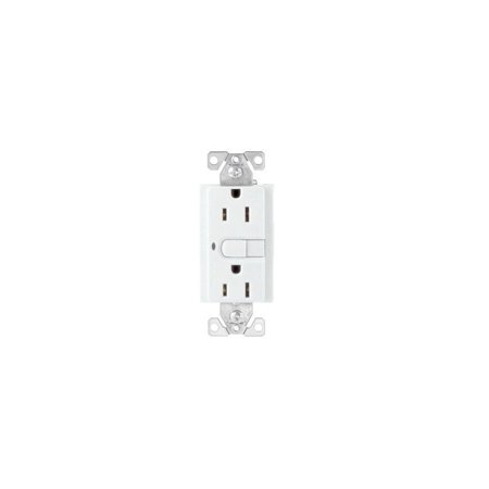 Cooper Wiring Devices Devices White Satin Aspire Lighted GFCI Duplex Receptacle GFI Outlet 15A 9566WS