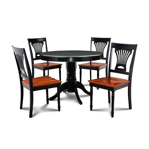 August Grove Horgan 5 Piece Solid Wood Dining Set