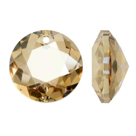 Swarovski Crystal, #6430 Round Classic Cut Pendants 8mm, 2 Pieces, Crystal Golden Shadow