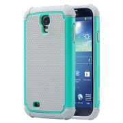 Galaxy S4 Case, S4 Case - ULAK Hybrid Shock Resistant Rubber Case Cover for Samsung