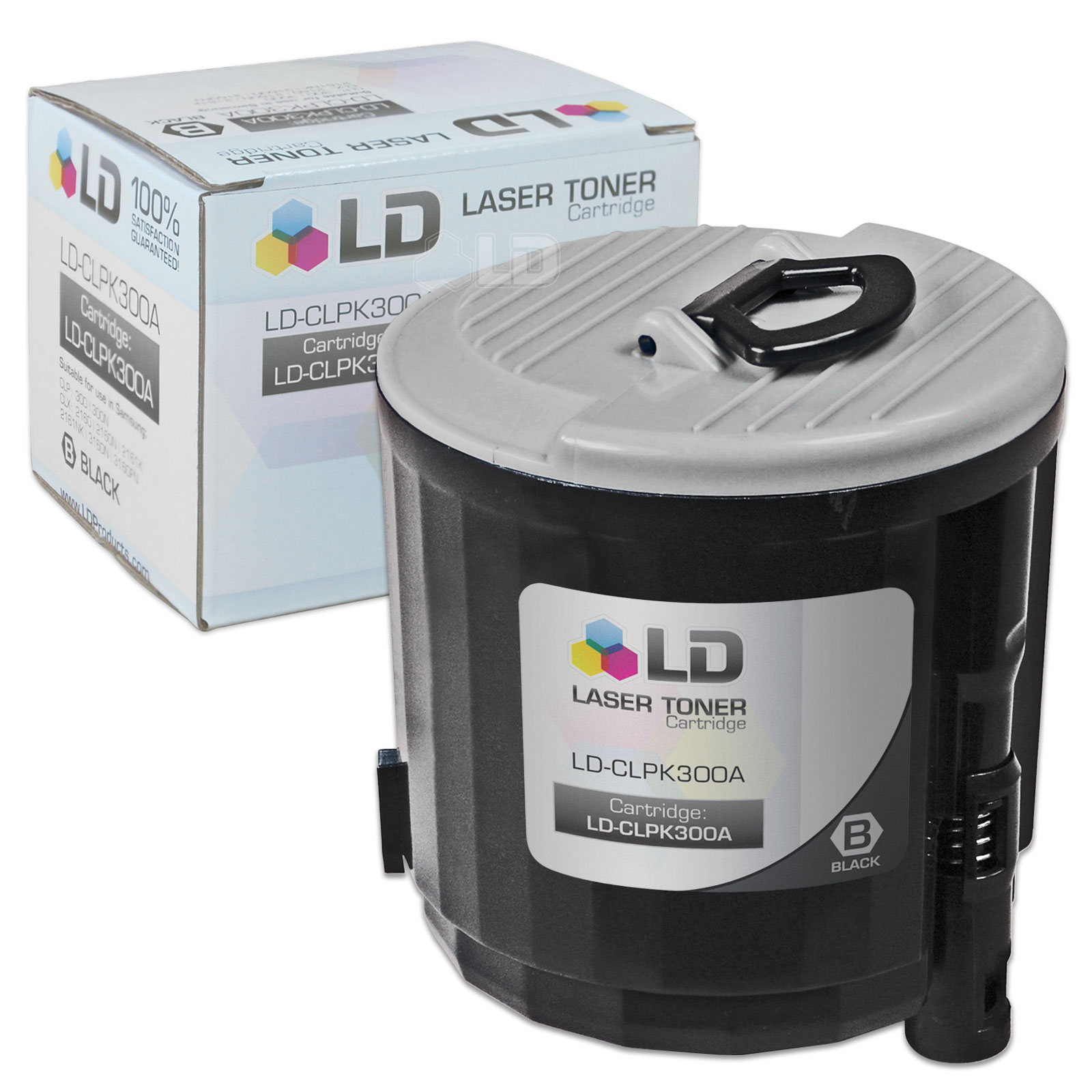LD Compatible Replacement CLP-K300A Black Laser Toner Cartridge for use in Samsung CLP-300, CLP-300N, CLX-2160, &