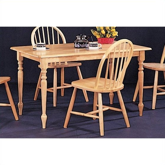 Walmart Kitchen Tables: Coaster Damen Rectangle Leg Dining Table In Warm Natural