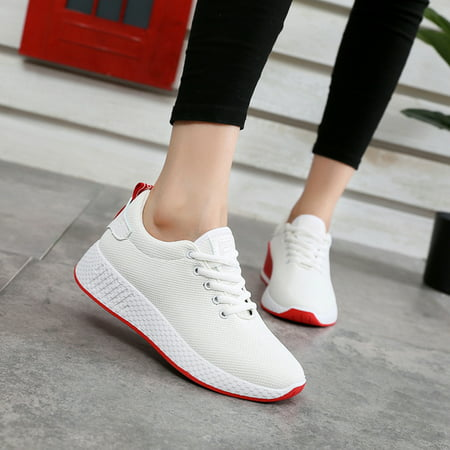 Women Casual Athletic Sneakers Knit Running Shoes Tennis Shoe for Women Walking Baseball Jogging - Flapper Shoes For Sale