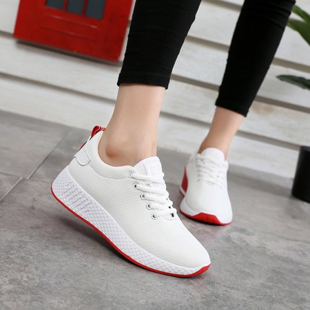 Women Casual Athletic Sneakers Knit Running Shoes Tennis Shoe for Women Walking Baseball Jogging