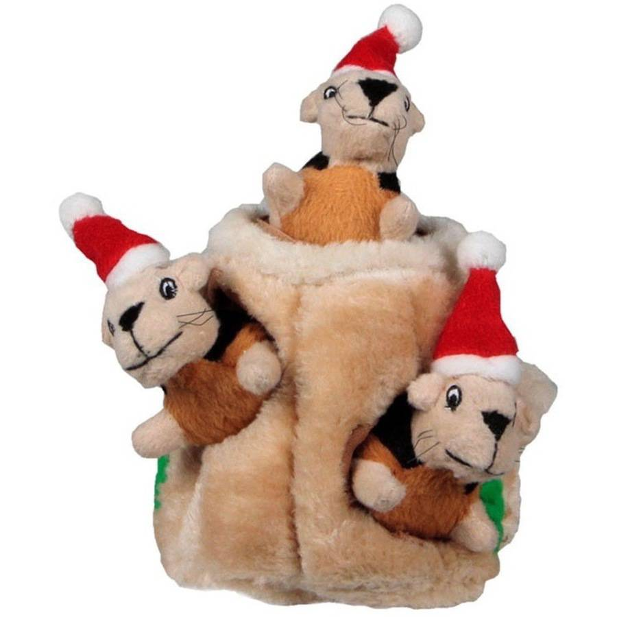 Kyjen Holiday Hide-A-Squirrel, Large