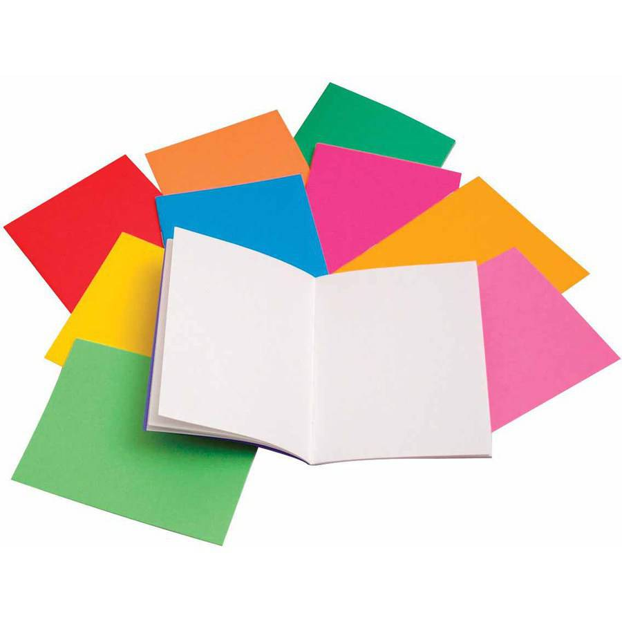 "Hygloss Rainbow Bright Blank Book, 4.25"" x 5.5"", Assorted Colors, 10pk"