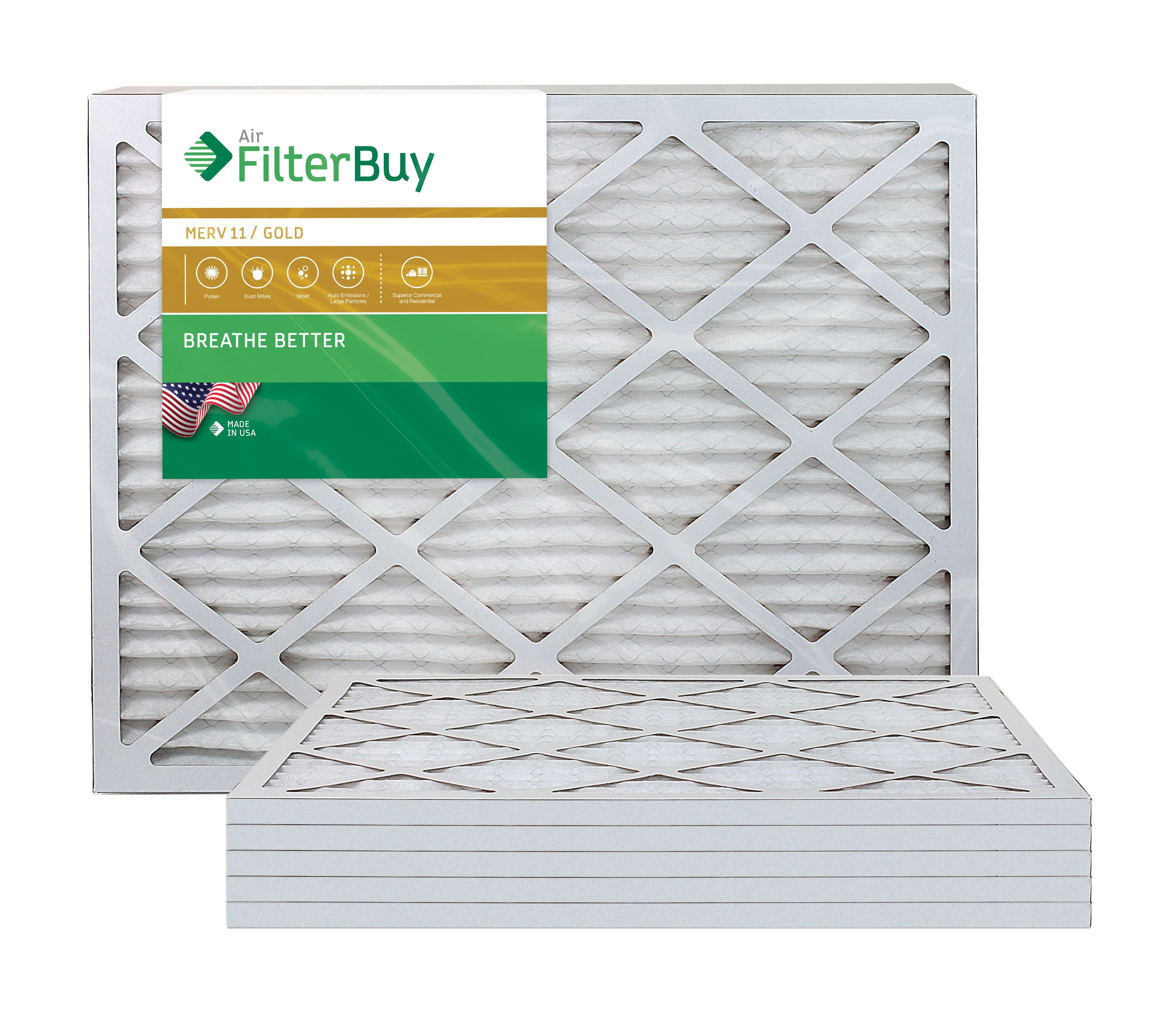 3 Replacements MERV 11 Furnace Filters 21x23x1