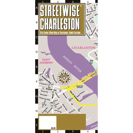 Streetwise charleston map - laminated city center street map of charleston, south carolina: 9782067230118