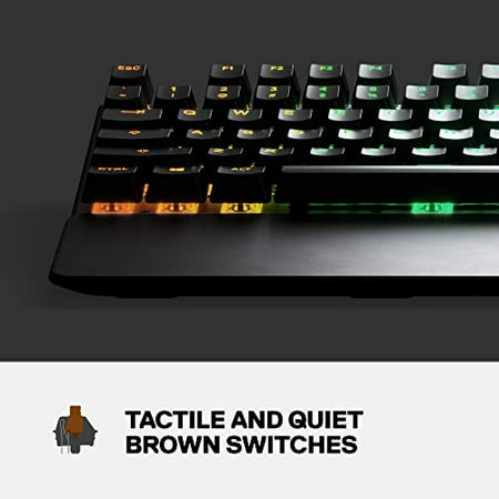 Steelseries Apex 7 Mechanical Gaming Keyboard Oled Smart Display Usb Passthrough And Media Controls Tactile Walmart Canada