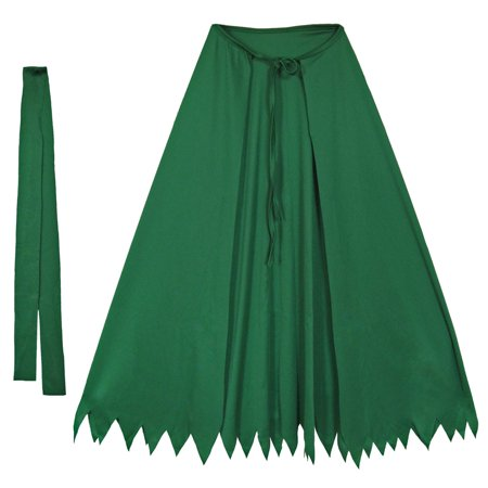 "SeasonsTrading 32"" Green Superhero Cape Set Costume Dress Up"