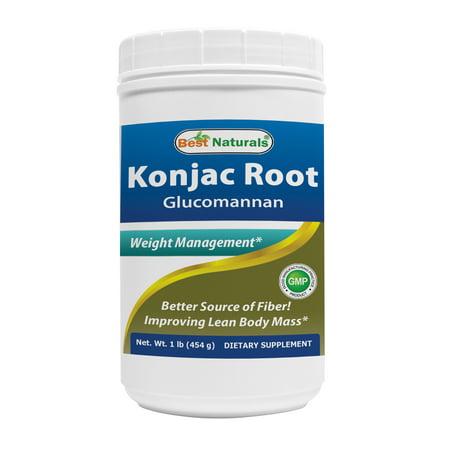 Best Naturals Konjac Glucomanan Root 1 lb (Best Appetite Suppressant Thermogenic)