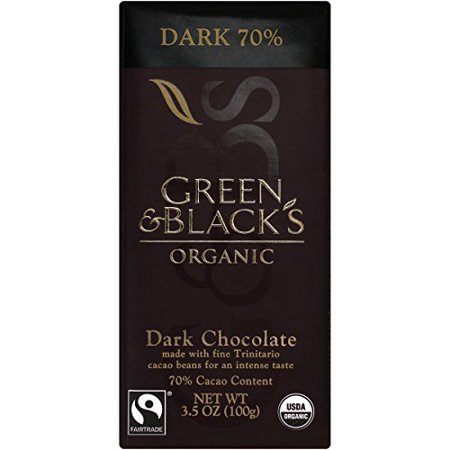 Green & Black's Organic Dark Chocolate, 70% Cacoa, 3.5 Ounce Bars (Pack of (Best Organic Dark Chocolate Bars)