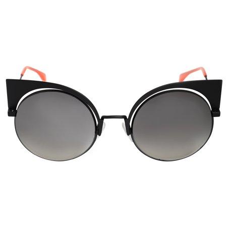 Fendi FF 0177/S 3 Eyeshine Matte Black Cat Eye (Fendi Cat Eye Sunglasses)