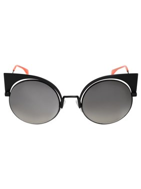 1843cc8a4 Free shipping. Product Image Fendi FF 0177/S 3 Eyeshine Matte Black Cat Eye  Sunglasses