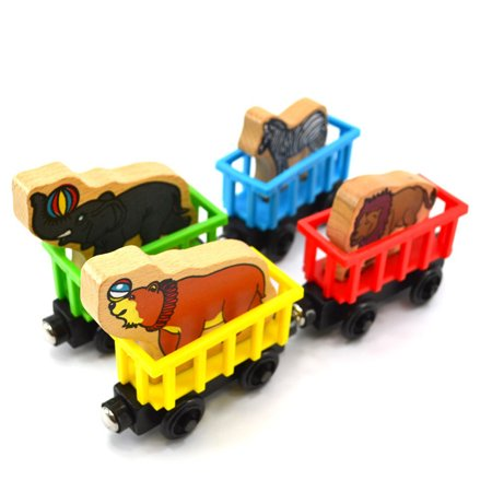 Mosunx Personalised Animal Name wooden Train Birthday New Year Christmas Gift Toy