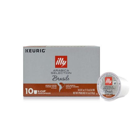 Illy Pods - illy Arabica Selection K-Cup Pods, Brasile for Keurig® Brewers, 10 Ct