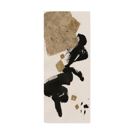 Trademark Fine Art 'Gilded Collage II on White' Canvas Art by Chris