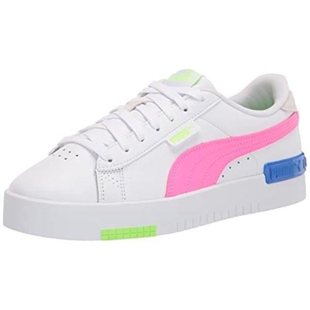 PUMA - PUMA Women's Jada Sneaker, White-Fluo Pink-Green Glare ...