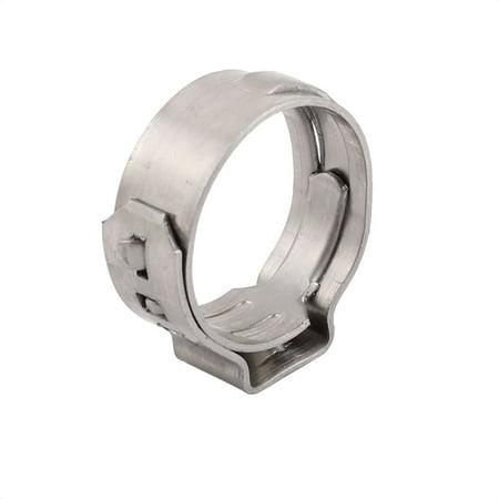13.7mm-16.2mm 304 Acier inoxydable Ajustable Tube Collier serrages Argent 10pcs - image 1 de 2