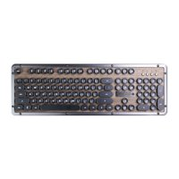 AZIO Retro Classic Bluetooth Wireless Backlit Mechanical Keyboard (Elwood) MK-RETRO-BT-W-01-US