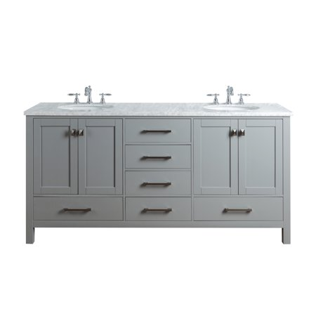 Tremendous Stufurhome 72 Inch Malibu Grey Double Sink Bathroom Vanity Download Free Architecture Designs Photstoregrimeyleaguecom