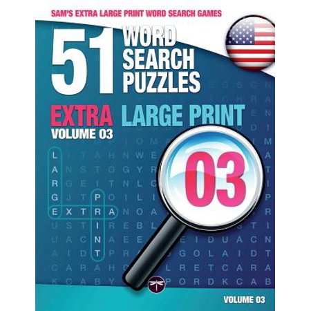 Sam's Extra Large-Print Word Search Games : 51 Word Search Puzzles, Volume 3: Brain-Stimulating Puzzle Activities for Many Hours of Entertainment - Halloween Word Games And Puzzles