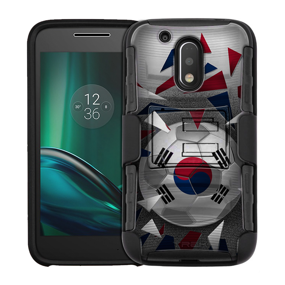 Motorola Moto G Play Armor Hybrid Case Soccer Ball Korea Flag by Trek Media Group