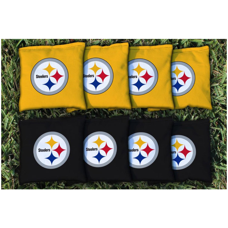 Pittsburgh Steelers Replacement Corn-Filled Cornhole Bag Set - No Size