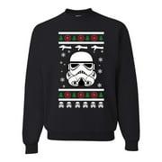 Star Trooper Funny Xmas Blaster Tree Storm Troop Mens Ugly Christmas Sweater