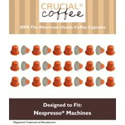 30 High Performance Replacement Coffee Capsules for Use in Most Nespresso Machines, The Afternoon Hustle is Designed & Engineered by Crucial Coffee