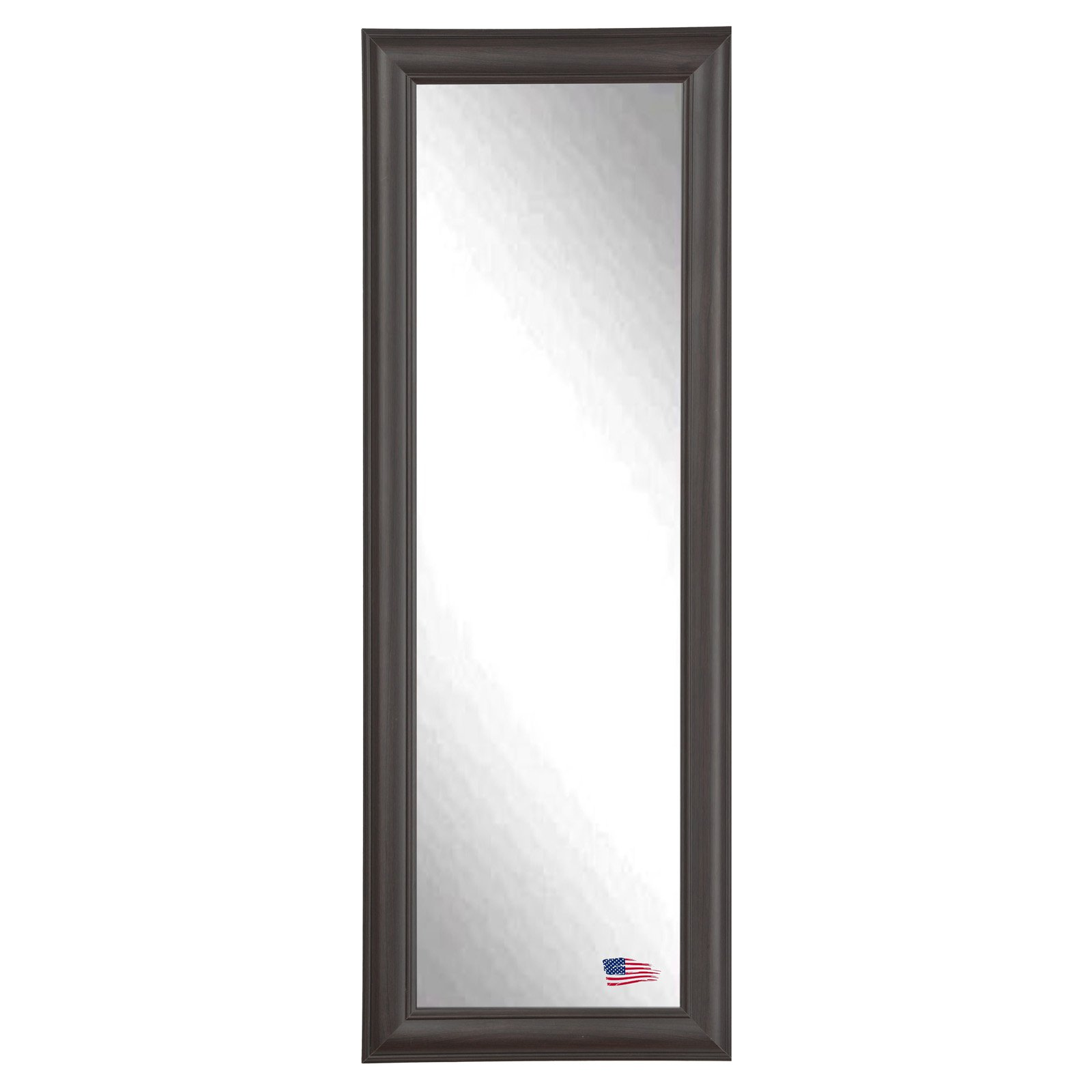 Rayne Mirrors Brazilian Dark Walnut Full Length Body Wall Mirror
