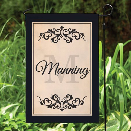 Personalized Filigree Garden Flag