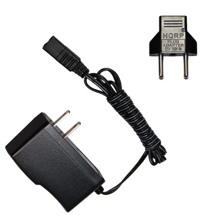 HQRP AC Adapter for Wahl 5 Star, 7060-700, 7367-200, 7367-500, 7397-500, 97561-001, 97561-002, 97617-100 Razor / Shaver Power Cord Charger SA103C-02 + Euro Plug Adapter
